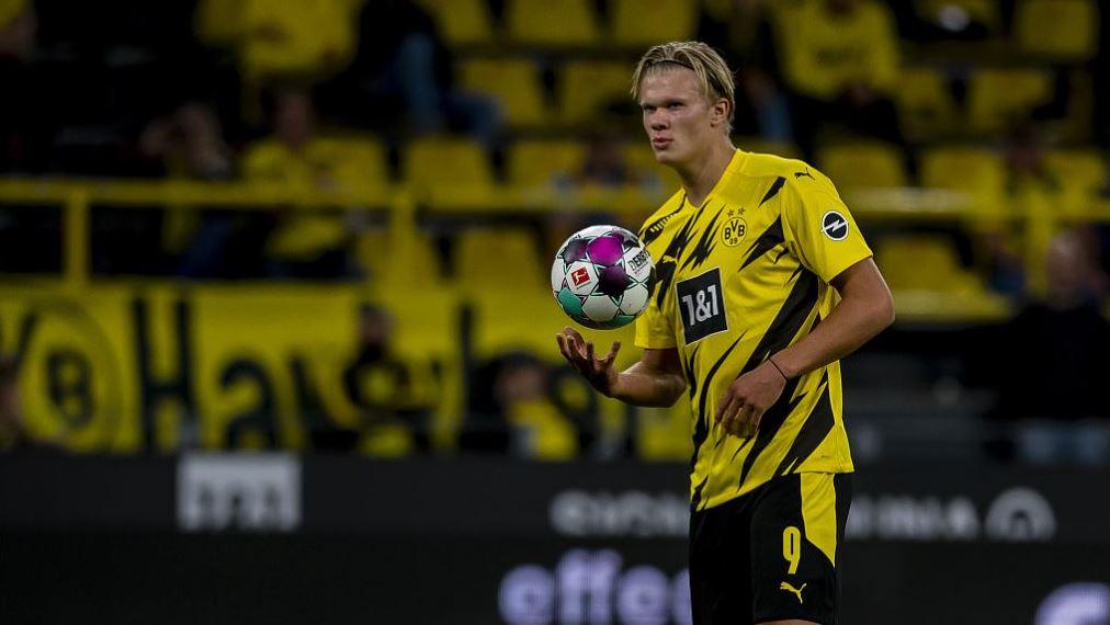 Image result for erling braut håland sign for dortmund 2021